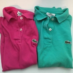 2 size 34 (small) women's lacoste polos