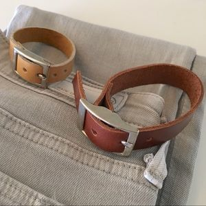 Jewelry - Leather bracelet - two available! NWOT