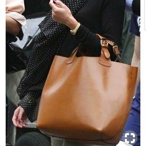 Zara braided shopper tote