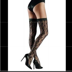 NWT WOLFORD LILIE STAY-UP STOCKINGS / THIGH-HIGHS