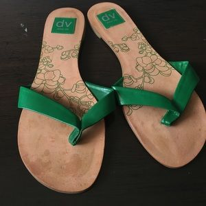 DV Pool Sandals, Green Accent, 7.5M