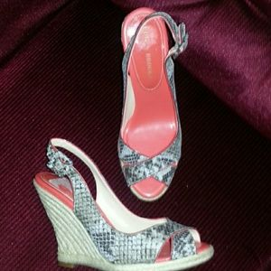 Never worn Audrey Brooke Python Wedges
