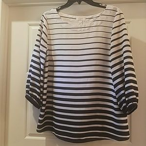 Black and White Top from Loft