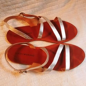 Lucky Brand Metallic Sandals size 8.5M