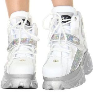 Cyber Holo Holographic Sneakers Platforms Raver