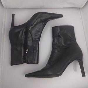 Ralph Lauren Black Heeled Ankle Boots