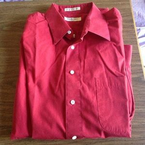 Murano red dress shirt. Perfect for the holidays!