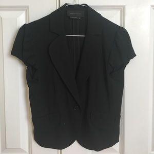 BCBGMAXAZRIA Black Short-sleeve Work Jacket