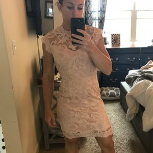 NWT adorable pink lace dress small