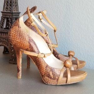 L.A.M.B. Leather Heels Size 6