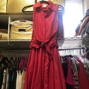 Finley fushia dress with attached belt