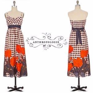 Anthropologie MAEVE Tulip Fields Maxi Dress sz 2