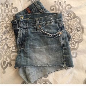 Boy short, cute off jeans, 7 for all man kind