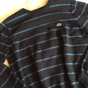 Lacoste Devanlay 100% Wool Stripe Sweater