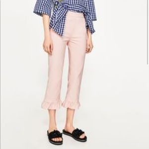 Zara grilled pink pants