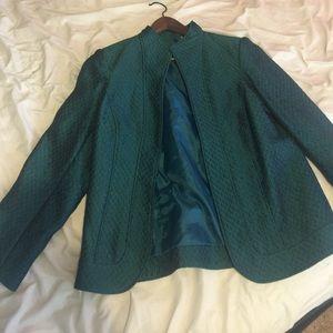 Coldwter creek iridescent teal blazer jacket rare