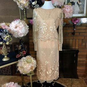 VINTAGE 1960'S LACE SKIRT AND BLOUSE SET