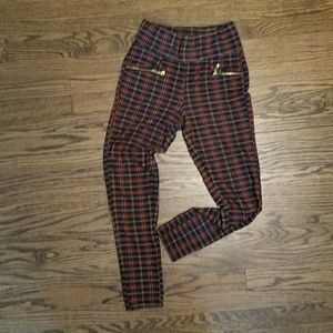 Pants - Plaid One Size Leggins