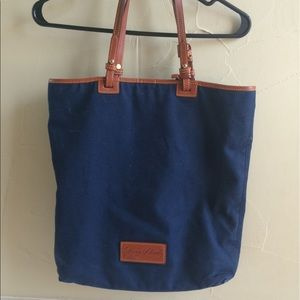 Dooney and Bourke canvas and leather tote