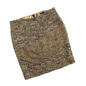 <Anthropologie> Tweed Lace Skirt Burning Torch