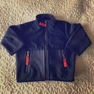 Navy Fleece Zip Jacket (0-3mos) by Carters NWOT