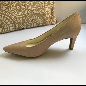 Anne Klein iFlex Textured Leather Heels, Nude
