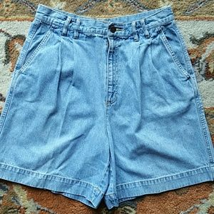 Liz sport pleated denim shorts vintage 12