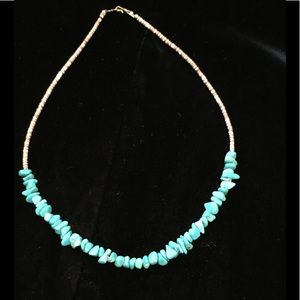 Jewelry - Turquoise Nugget Boho Choker Necklace