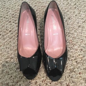 Patent leather Nordstrom bow heels sz 10