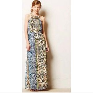 HD in Paris embroidered maxi dress ANTHROPOLOGIE