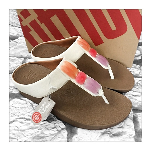 c2a71f6385c600 FitFlop Urban White Sweetie Toe Sandals