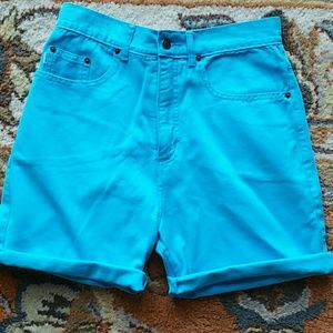 Turquoise highwaist shorts tag 8 or 28in