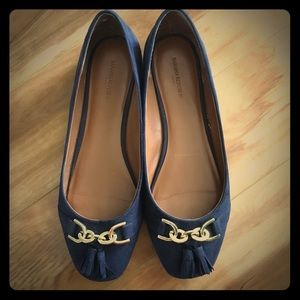 Banana Republic Navy Tassel Flats