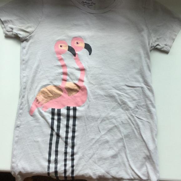 18aabcf4 J. Crew Tops   J Crew Womens Xxs Taupe Flamingo Shirt   Poshmark