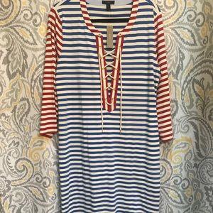 J. Crew Long Nautical Maxi Dress