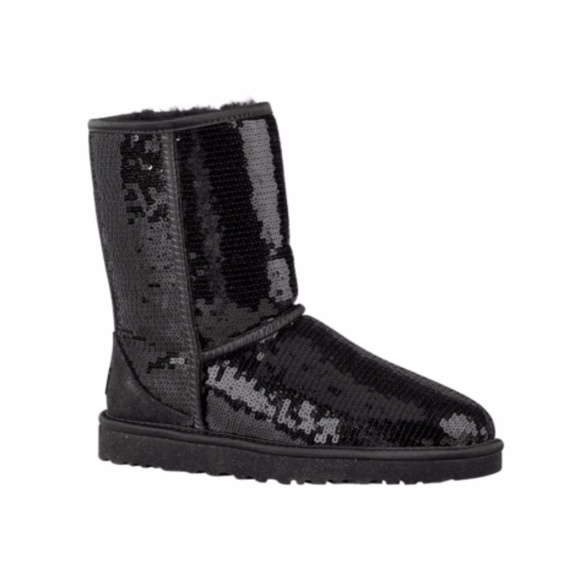black sequin ugg boots