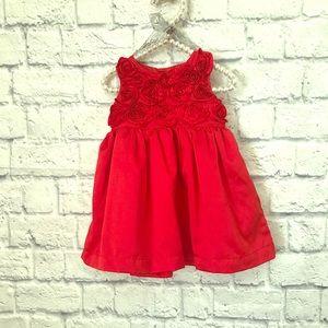 Carter's baby girl red rose dress