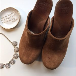 Comfy Suede UGG Clogs with Fur