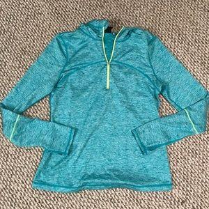 NWOT Zella Athletic Half Zip With Hood