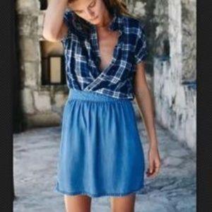 NWT Madewell faded indigo mini skirt