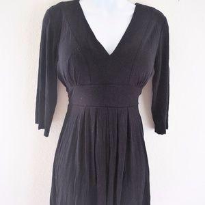 Nicole Miller Black Long Sleeve Casual Dress