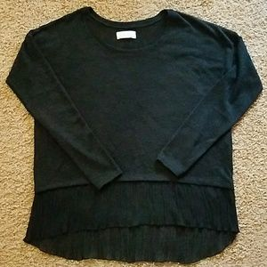 Abercrombie and Fitch Black Hi Lo Sweater