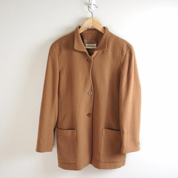 5e103fe97a19 Armani Collezioni Jackets & Blazers - Giorgio Armani Collezioni Wool  Cashmere Camel Coat