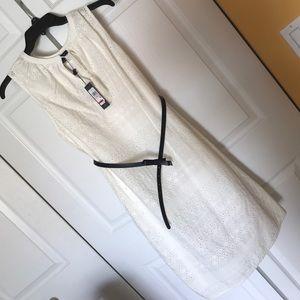Tommy Hilfiger winter white eyelet dress.