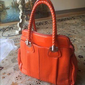 Orange Patented Leather Chloe Handbag