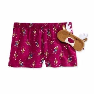 Other - NWT Pajama Shorts and Eye Mask Set Moose