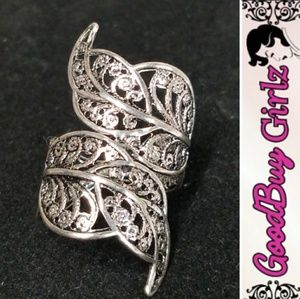 Antiqued Silver Filigree Knuckle Ring