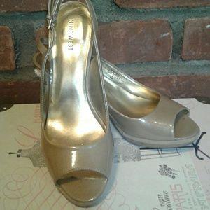 Nine West Sharina Peep Toe Heels