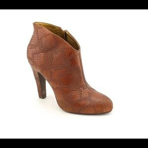 Jessica Simpson platform ankle brown booties