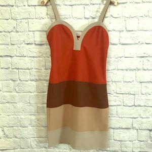 LF sweetheart neck bodycon dress